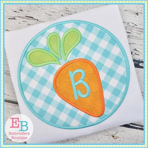 Carrot Circle Applique