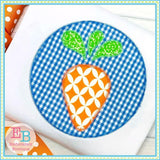 Carrot Circle Zigzag Applique