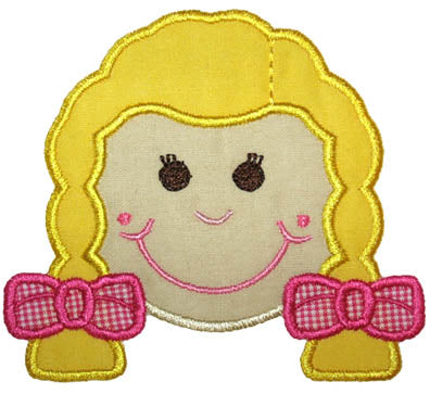 Girl Face Applique