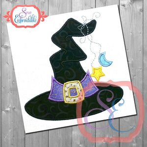 Wacky Witch Hat Applique - embroidery-boutique