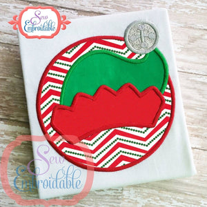 Circle Elf Hat Applique - embroidery-boutique
