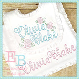 Ballerina Vintage Embroidery Font, Embroidery Font