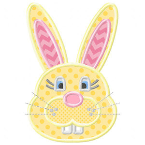Toothy Bunny Applique - embroidery-boutique