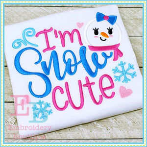 Snow Cute Applique - embroidery-boutique