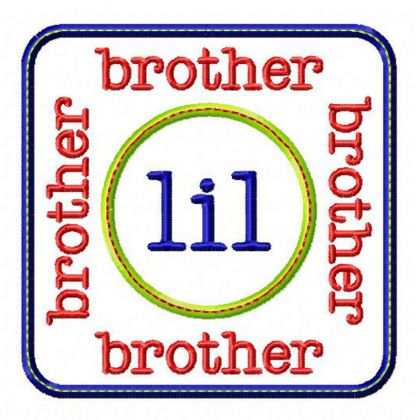 Lil Brother Patch - embroidery-boutique
