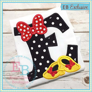 Bow And Shoes Applique Alphabet, Applique