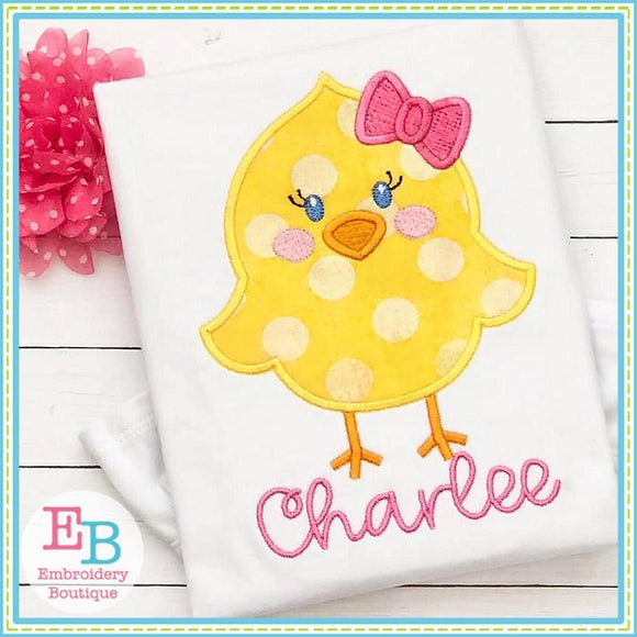 Little Chick Girl Satin Applique