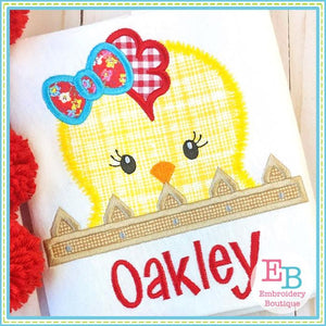 Hen Peeker Applique