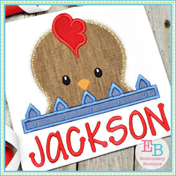Rooster Peeker Applique