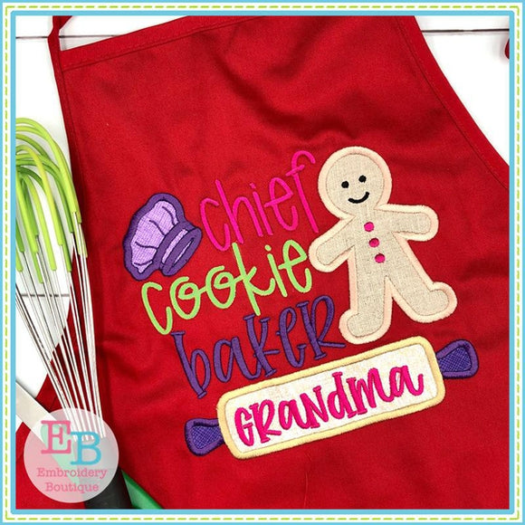 Chief Cookie Baker Applique
