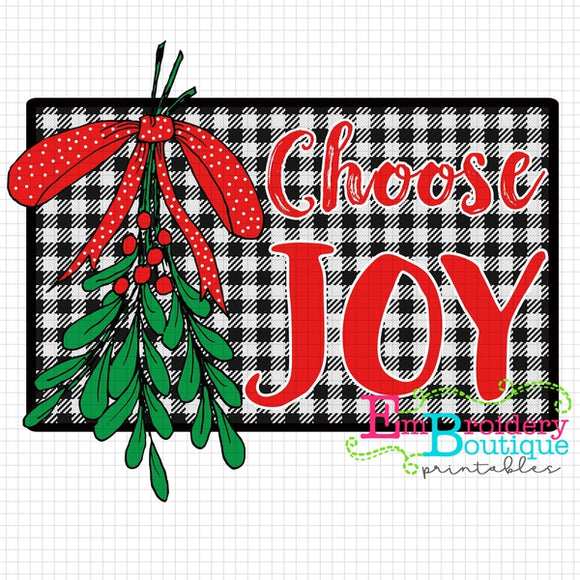 Choose Joy Printable Design PNG - embroidery-boutique
