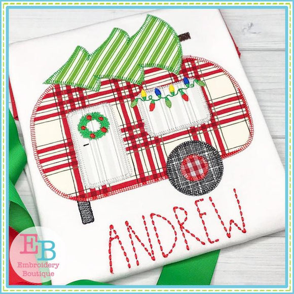 Christmas Camper Applique - embroidery-boutique