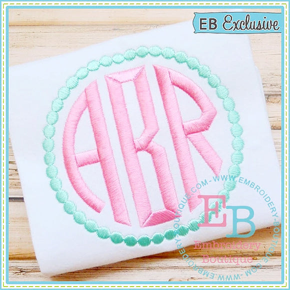 Circle Monogram Embroidery Font-Embroidery Boutique