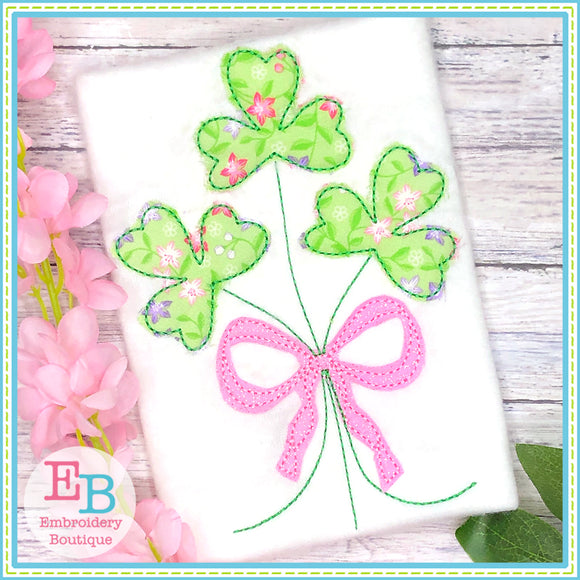 Clover Bunch Bean Applique-Embroidery Boutique