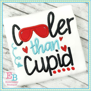 Cooler Than Cupid Applique - embroidery-boutique