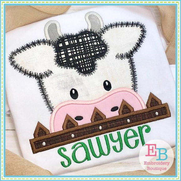 Cow Peeker Applique