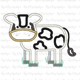 Cow Body Satin Stitch Applique Design-Embroidery Boutique