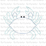 Crab 3 Bean Stitch Applique Design-Embroidery Boutique