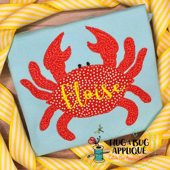 Crab 3 Zig Zag Stitch Applique Design-Embroidery Boutique