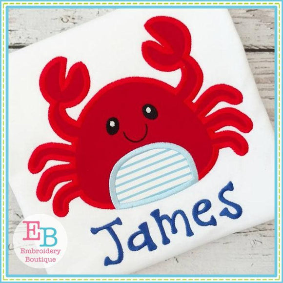 Crab 2 Applique - Embroidery Boutique