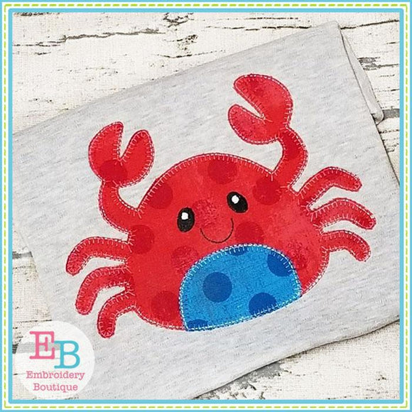 Crab 2 Blanket Stitch Applique - Embroidery Boutique