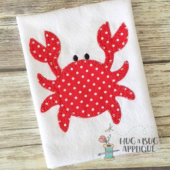 Crab Blanket Stitch Applique Design, Applique