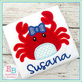 Crab Bow Applique, Applique