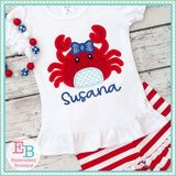 Crab Bow Applique - embroidery-boutique