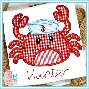 Crab Hat Applique, Applique