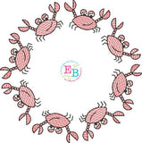 Crab Circle Design, Embroidery