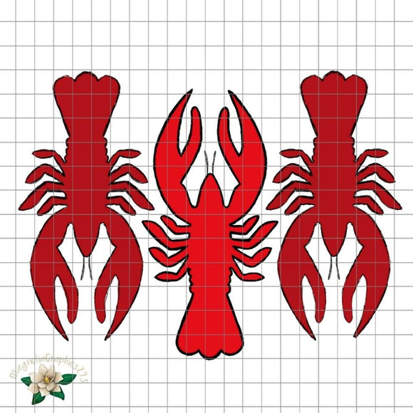 Crawfish Trio PNG Printable Design