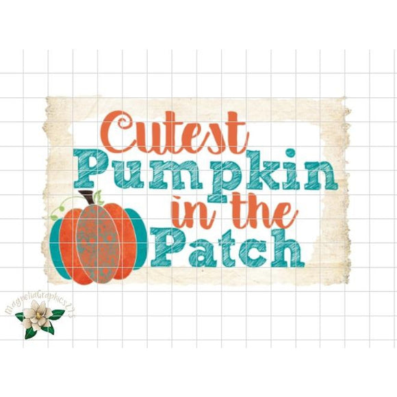Cutest Pumpkin in the Patch Printable Design - embroidery-boutique