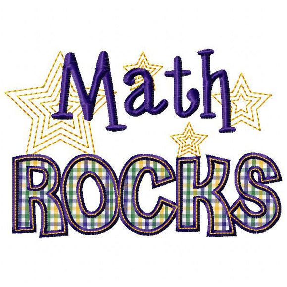 Math Rocks Applique, Applique