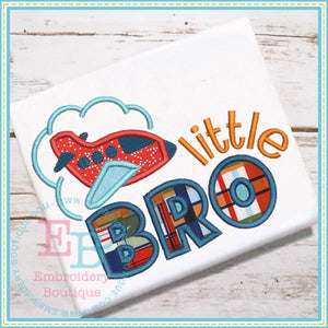Little Bro Plane Applique - embroidery-boutique