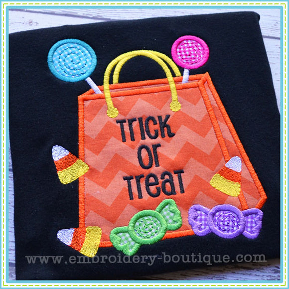Treat Bag Applique, Applique