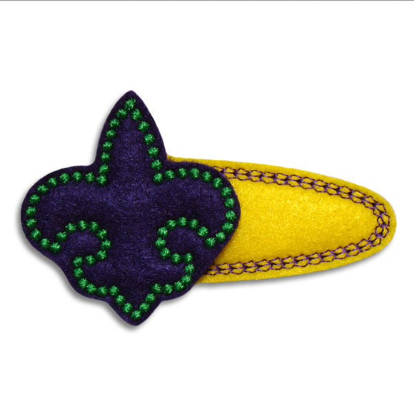 Fleur De Lis Clip Center - embroidery-boutique