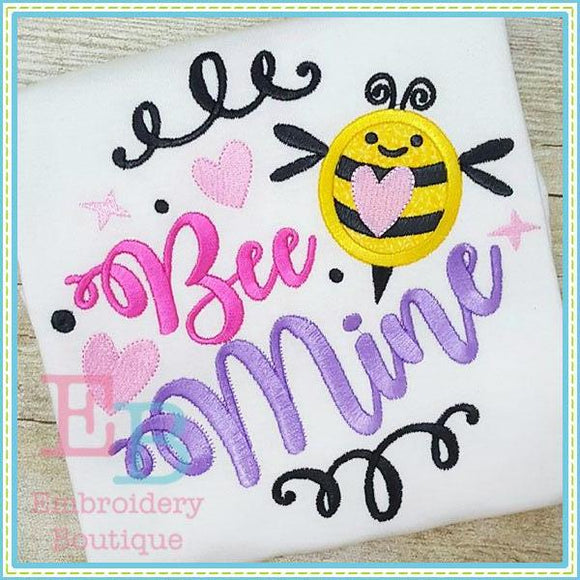Bee Mine Applique - embroidery-boutique