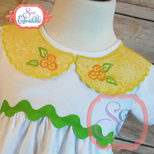 Faux Scalloped Collar Front, In The Hoop Projects