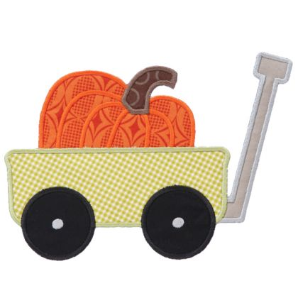 Pumpkin Wagon Applique - embroidery-boutique