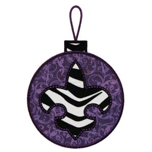 Fleur De Lis Ornament Applique - embroidery-boutique