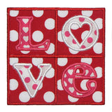 Love Patch Applique - embroidery-boutique