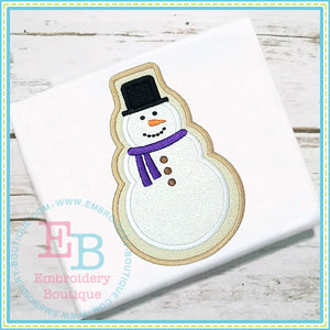 Snowman Cookie Applique, Applique