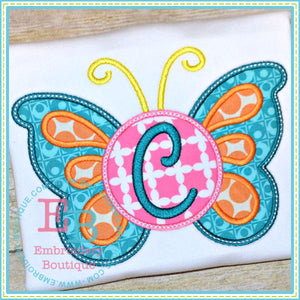Monogram Butterfly Applique