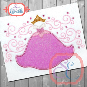 Sleeping Princess Frame - embroidery-boutique
