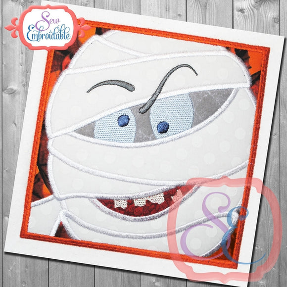 Box Mummy Applique - embroidery-boutique