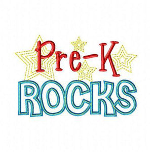 Pre-K Rocks - embroidery-boutique