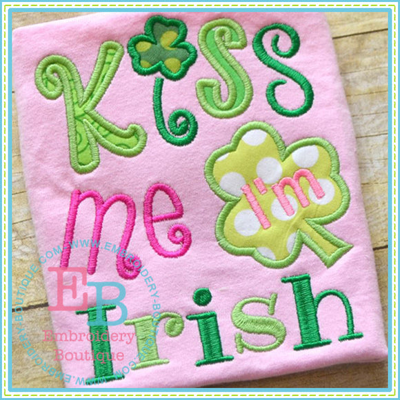Kiss Me Applique, Applique