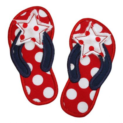 Star Flipflops Applique - embroidery-boutique