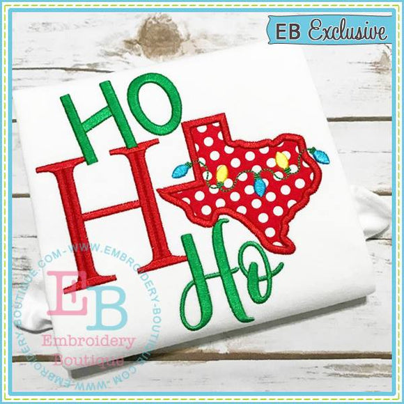 Ho Ho Ho Texas Applique