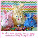 In The Hoop Bunny Treat Bags, In The Hoop Projects